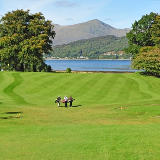 Dragons Tooth 3rd Hole and Loch Linnhe view