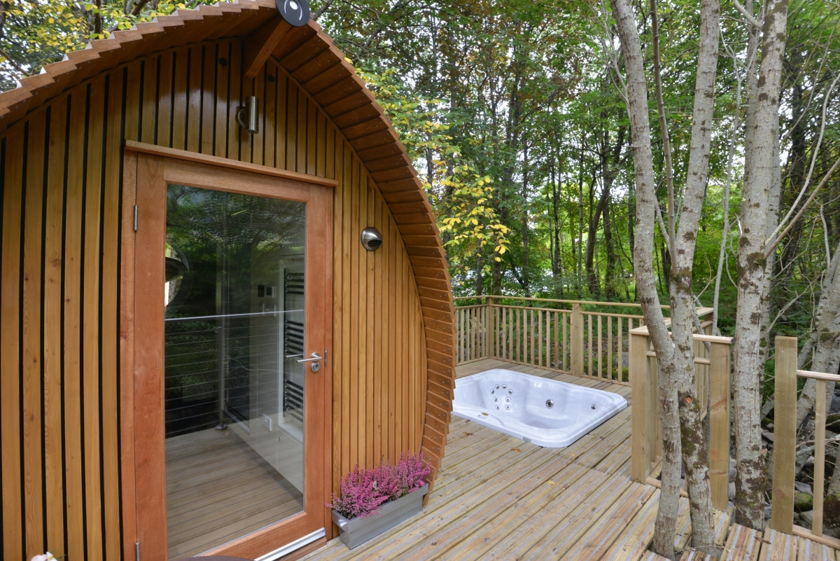 Special Little Luxury Lodges With Hot Tubs Near Glencoe In